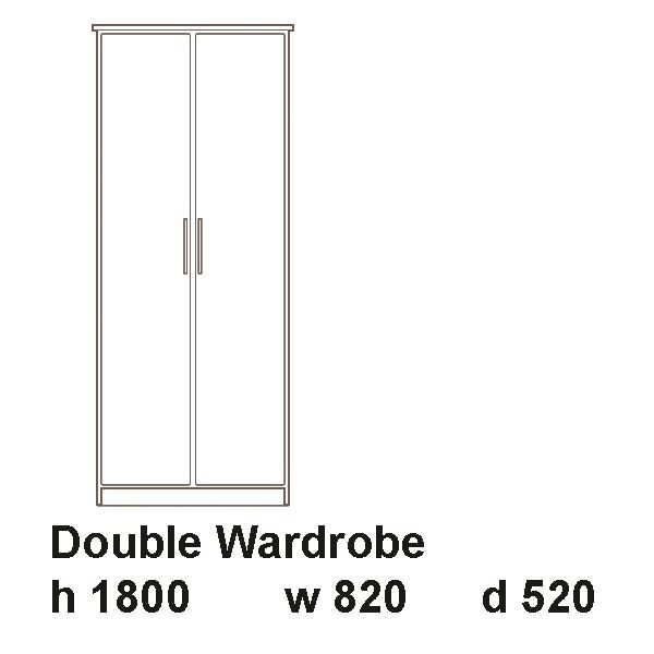 manhattan double wardrobe